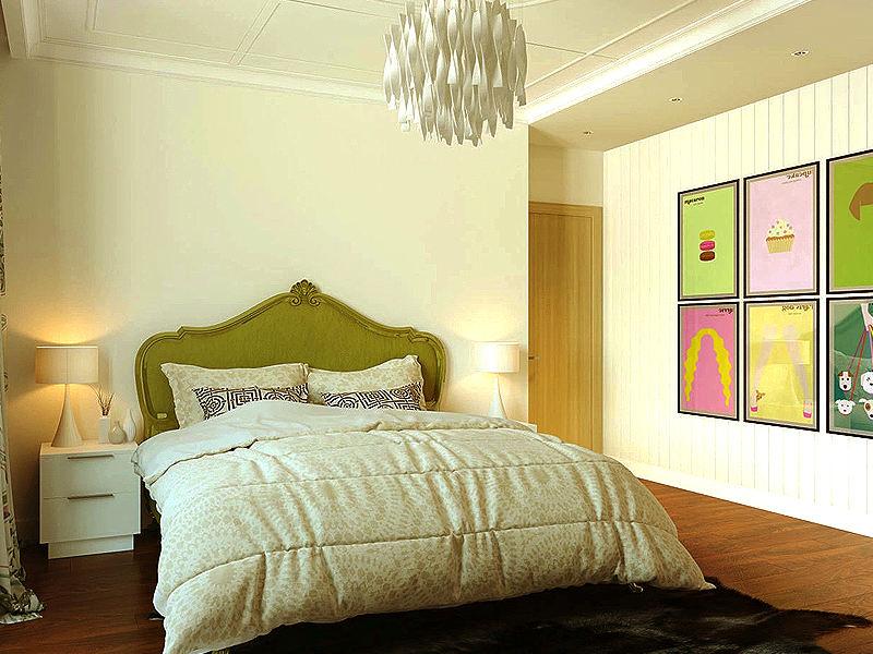 英式混搭设计卧室相片墙效果图_装修百科