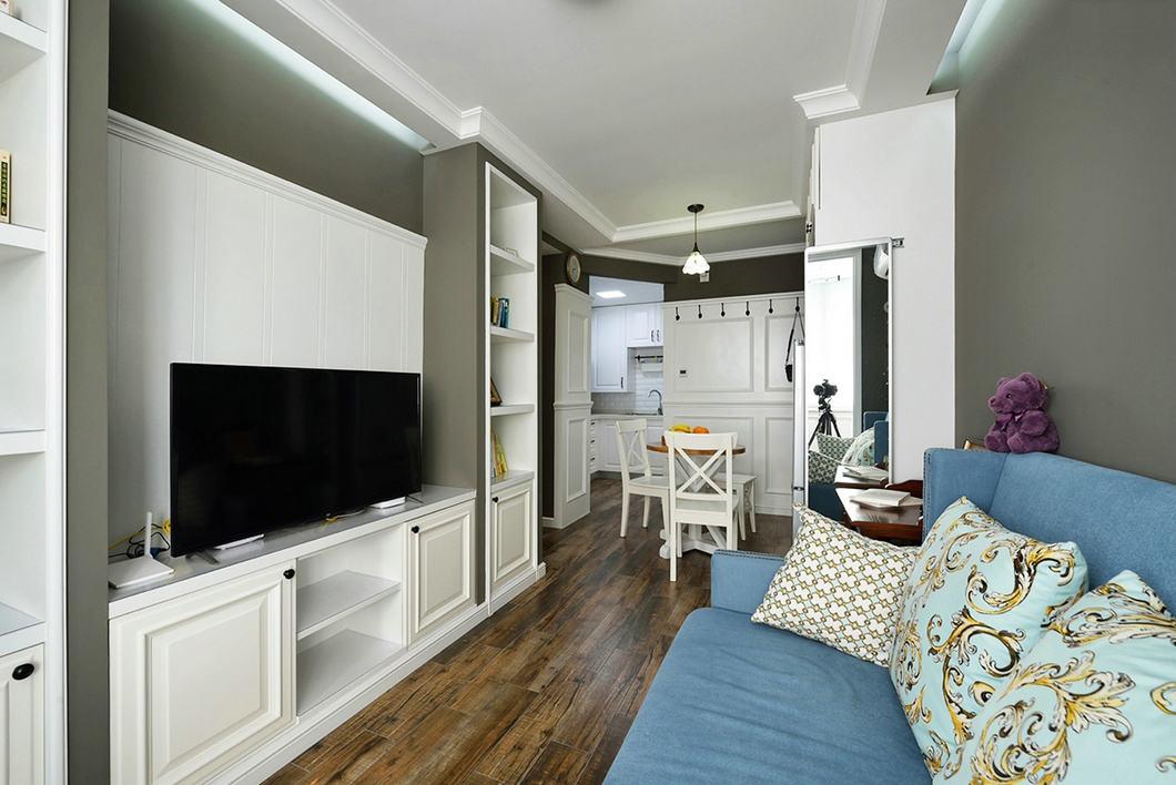 40平美式设计一室一厅设计案例图