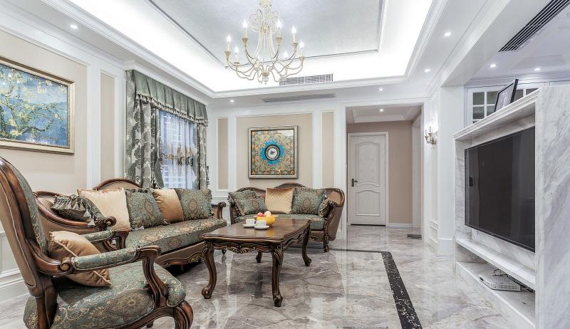 超炫动感时尚现代欧式客厅实木沙发设计图_装修百科