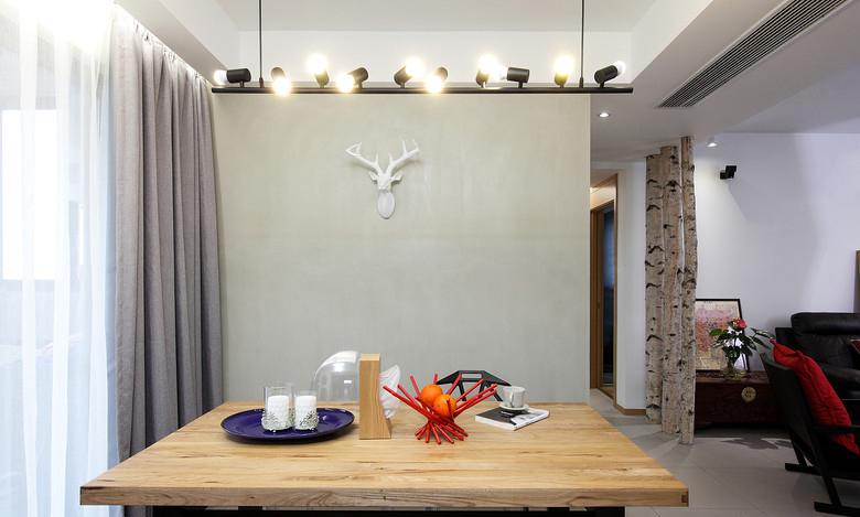 北歐風格室內餐廳燈具裝修設計效果圖
