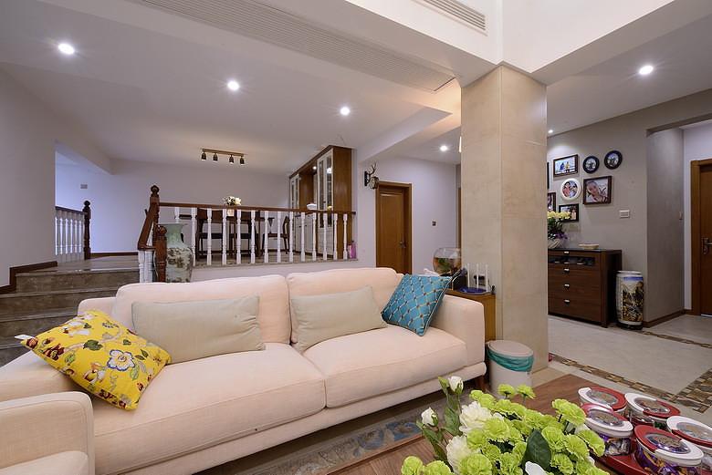 小清新中式混搭二居室小户型装饰效果图