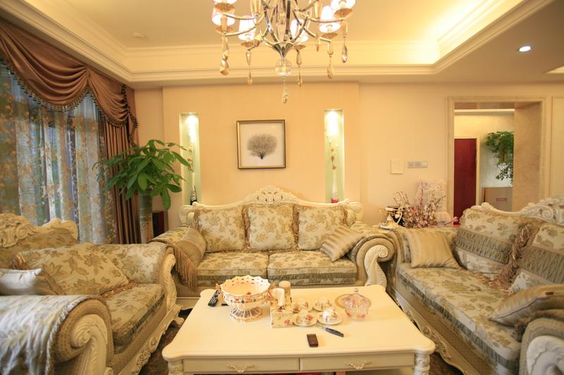 和谐简欧风格设计三居室装修效果图片