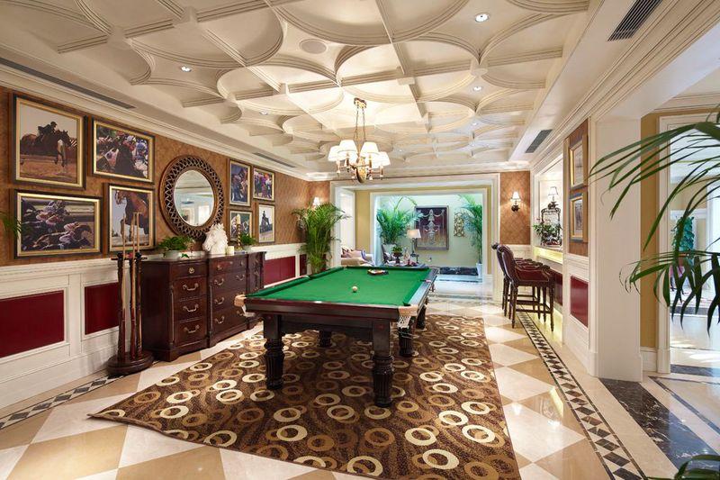 豪华欧式风格别墅室内休闲区吊顶设计欣赏图_装修百科