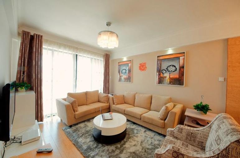 現代風格暖色系客廳裝修效果圖