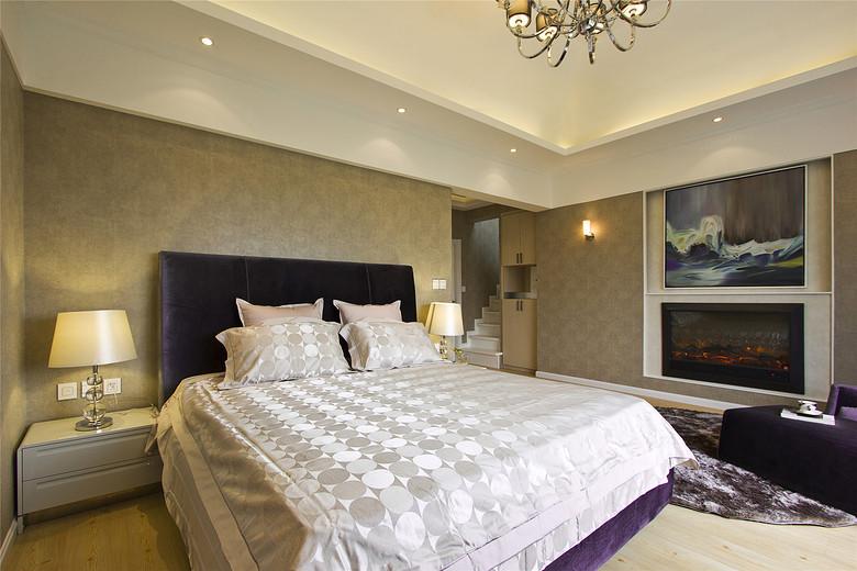 现代欧式混搭卧室相片墙效果图_装修百科