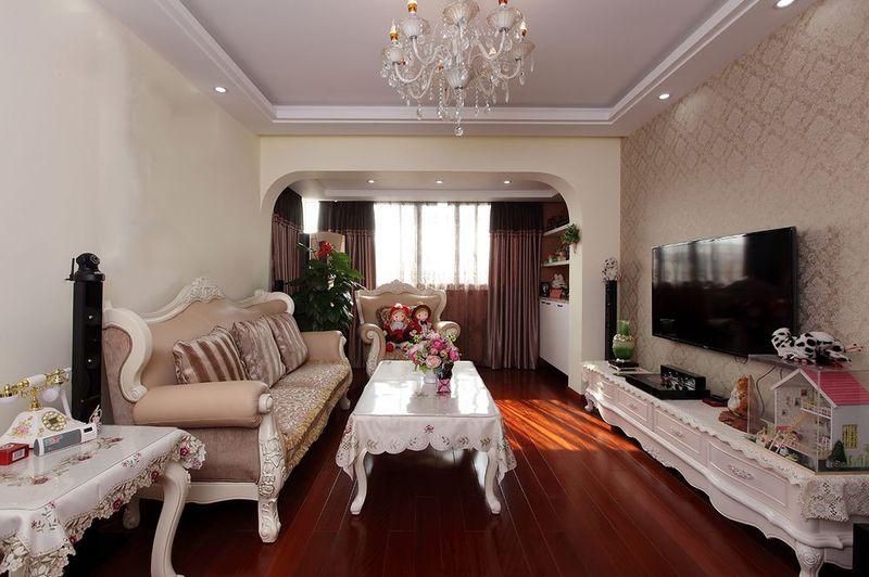 浪漫喜慶簡歐風格設計三居室內裝修效果圖