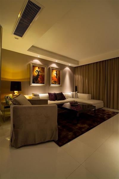 低奢现代欧式客厅背景墙效果图_装修百科