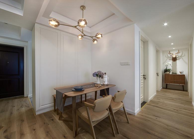 自然木质北欧风格餐厅地板设计效果图_装修百科