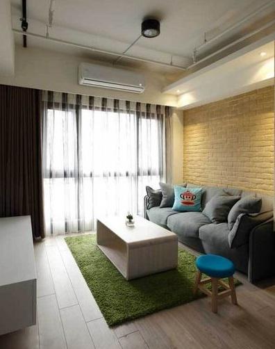 48平小户型清新简约一居室装修效果图