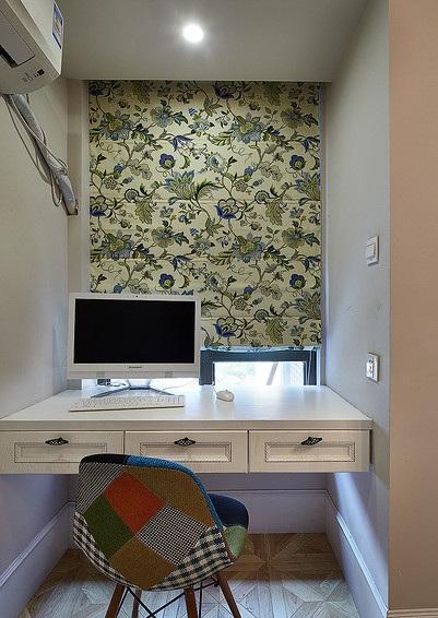 清新唯美美式装饰风格小书房电脑桌效果欣赏