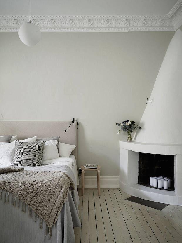 时尚北欧小户型卧室床头设计效果图_装修百科