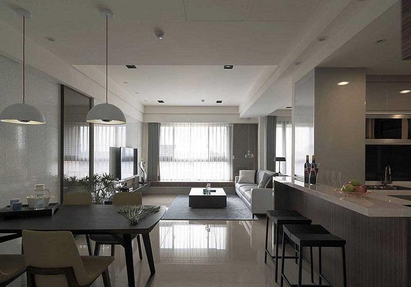 簡潔幽靜簡約現代格調家居設計效果圖