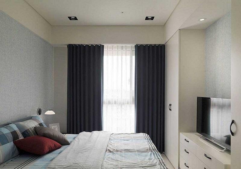 安静祥和简约现代卧室窗户装饰效果图_装修百科