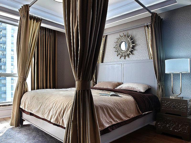 奢華美式地中海混搭臥室效果圖