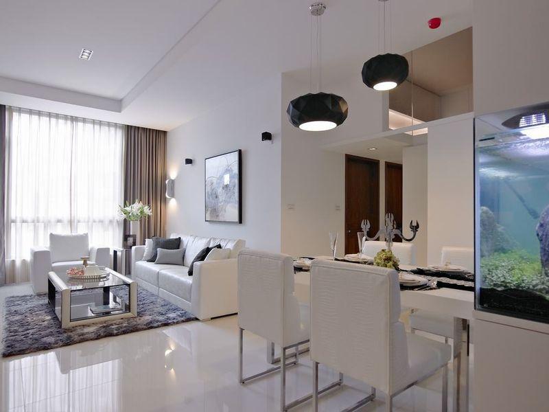 90平超清爽舒适现代二居设计效果图