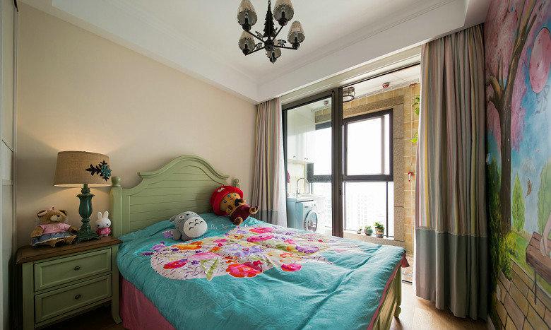 地中海彩色背景墻兒童房
