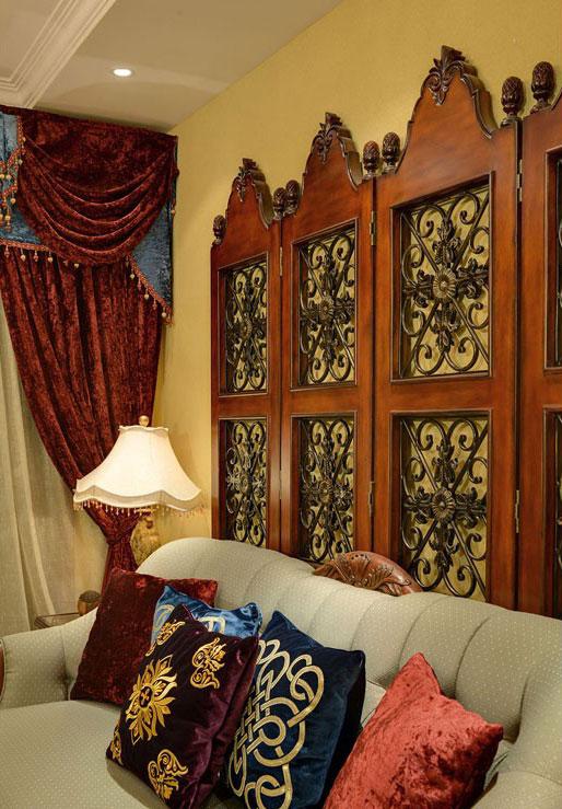 三居室美式風格家裝效果圖