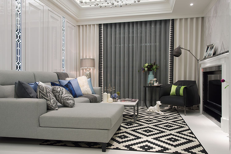 欧式客厅创意沙发背景墙效果图_装修百科