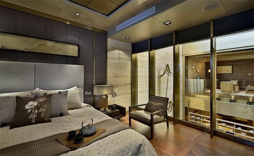 中式风格三居室豪华修效果图
