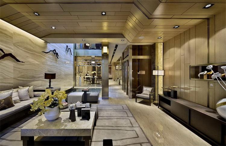 中式风格客厅豪华装修效果图_装修百科