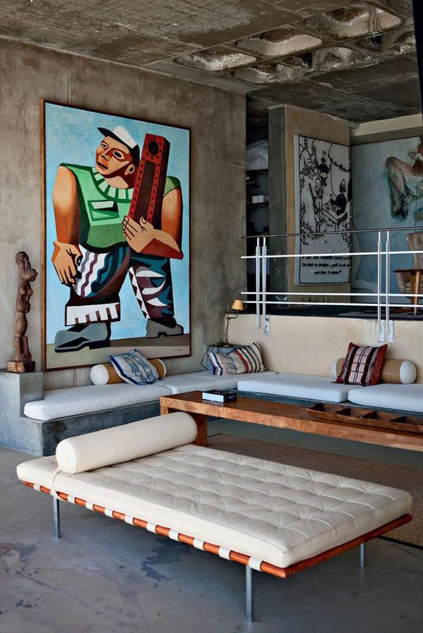 复古美式风格家装客厅设计图