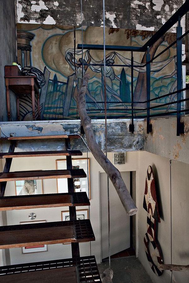 復古美式風格家裝樓梯效果圖
